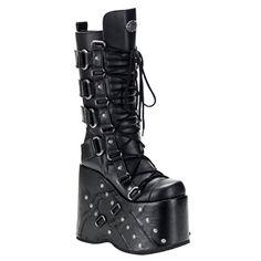 STACK-318 Demonia Gothic Platform Knee Boots
