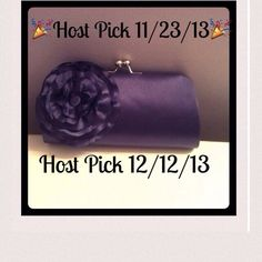 NewClutch Special occasion clutch with large bow that snaps on top. It's brand new Bags Clutches & Wristlets