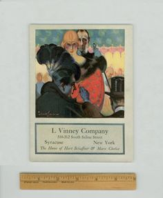 """""""Hart Schaffner & Marx Style Book for Men, Young Men, and Boys 1919-1920"""" Beautiful Fashion Illustrations by John E. Sheridan, gracing a rare early 20th Century Men's Clothing Catalog. For sale by Professor Booknoodle. $75.00"""