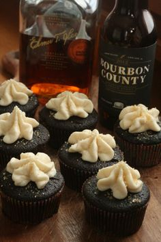 Bourbon County Stout Cupcakes Recipe!! Not sure if I'd waste my BCBS making these cupcakes though, I'd rather drink something so rare
