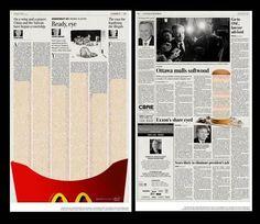 Mc donalds ad / jornal/ newspaper
