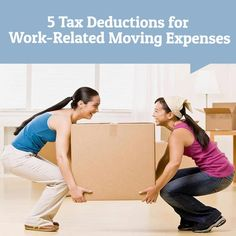 Relocating for #Work? You May Be Able to Get Tax Deductions for Moving Expenses taxseason Moving Expenses, Moving Checklist, Packing Checklist, Moving List, Moving Day, Packing To Move, Packing Tips, Free Move, Aging Population