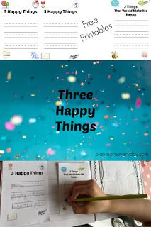 Three Happy Things - Play and Learn Every Day Bad Dreams, Home Learning, Happy Things, Feeling Overwhelmed, Business For Kids, Go To Sleep, Educational Activities, Fun Games, Some Fun