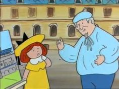 Madeline at the Louvre. Excellent way of engaging young students in conversations about who creates art and what might be considered 'good art'.