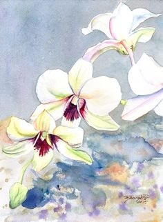 Kauai Orchid Festival   Original Watercolor by kauaiartist on Etsy