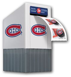 Lot Of Nhl Montreal Canadiens Canada Post Mailbox Stamp Dispense