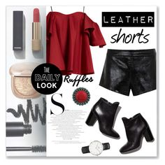 """""""Leather Shorts"""" by cowseatchard ❤ liked on Polyvore featuring Bobbi Brown Cosmetics, Chanel, Anna October, Pierre Hardy, Mason by Michelle Mason and Daniel Wellington"""
