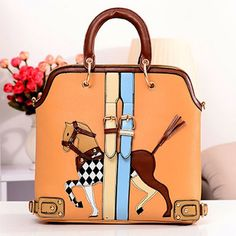 This bag is so cute and whimsical. Enter here to win it http://www.lush-fab-glam.com #fashion #accessories #handbag #travelfashion #styleguide #giveaway #winit #horse