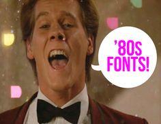 Free 80's fonts
