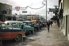 Main Street, Huntington Beach, California, 1950's