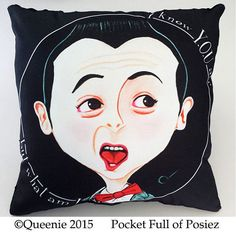 Little Pee Wee Large Decorative Pillow Pocket full of by Posiez