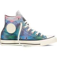 Converse X Missoni Chuck Taylor All Star – blue Sneakers ($100) ❤ liked on Polyvore featuring shoes, sneakers, blue, converse footwear, patterned shoes, converse trainers, print shoes and converse shoes