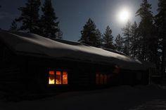 Ski café Elämänluukku in Äkäslompolo, Ylläs, Finland.
