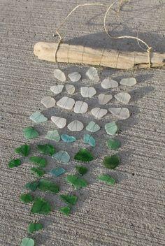 Sea Glass Mobile Sun Catcher Ombre Colors by LakeMichiganBaubles, $48.00