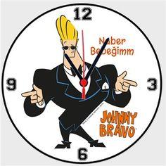 Johnny Bravo Naber Bebeğim Kendin Tasarla - Duvar Saati 27cm