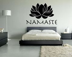 FREE SHIPPING Lotus Namaste Wall Decal Custom Size and Color--- for my future in home yoga studio