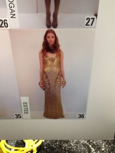 STACY IGEL: Behind The Seams: Fall 2014 Badgley Mischka NYFW