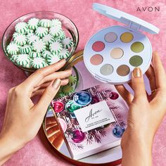 Iconic Avon Eye Palette- Iconic treasures like this one make the holidays even more magical. Get party-ready for the season with our limited-edition eye palette. The Face Shop, Got Party, Velvet Lipstick, Avon Brochure, Oil Shop, Avon Online, Avon Representative, Eye Palette, Holiday Gift Guide