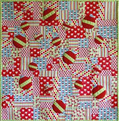 Dance of the Baubles quilt at Patchwork Bliss (Australia) Cozy Christmas, Modern Christmas, Circle Quilts, Christmas Projects, Baby Quilts, Bliss, Christmas Quilting, Merry, Dance