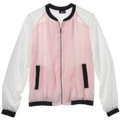 Mossino Cream Ebony Pink Jacket Sheer Chiffon New with tags. 100% Polyester. ✨Price is Firm unless is Bundle! Save $$$ when bundling with other items. NO TRADE Mossimo Supply Co. Jackets & Coats