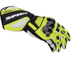 Weise Daytona Mens Kangaroo Leather Black Yellow Sport Racing Motorcycle Gloves