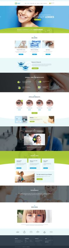 Contact Lenses Store & Vision Therapy Clinic WP Theme #rehabilitation #spectacles #therapy • Download ➝ https://themeforest.net/item/contact-lenses-store-vision-therapy-clinic-wp-theme/17430506?ref=pxcr