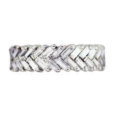 I really, really like this....Platinum and Diamond Chevron Eternity Band | Raymond Lee Jewelers