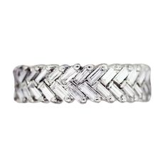Platinum and Diamond Chevron Eternity Band | Raymond Lee Jewelers