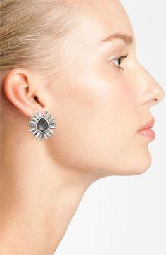 I love something like this for your earring, depending on the dress. Art Deco-y.   Alexis Bittar 'Miss Havisham - Bel Air' Starburst Stud Earrings | Nordstrom