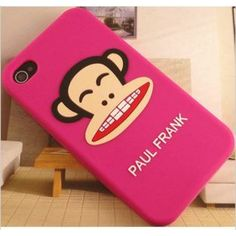 Pink Paul Frank iPhone 4, 4S silicone protective case