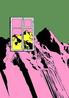 New party member! Tags: animation gif surreal mountains surrealism flakonkishochki andrey kasay