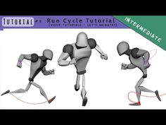 – Run Cycle – Tutorial – Let's see how to create a run cycle!) Video tutorial created with the Rig: Steel by Long Winter Members Long Winter Member here other animations … Animation Library, Animation Reference, 3d Animation, 3d Pose, Walking Animation, 3d Computer Graphics, Run Cycle, Robot Technology, Character Poses