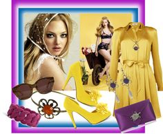 """""""I love my yellow dress!"""" by renete ❤ liked on Polyvore"""