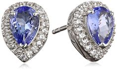 Sterling Silver Tanzanite and Created White Sapphire Post Earrings Amazon Curated Collection http://www.amazon.com/dp/B00PVMD71G/ref=cm_sw_r_pi_dp_5laevb1YN2XSQ