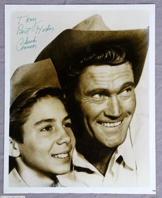 """johnny crawford and chuck connors, """"the rifleman"""""""
