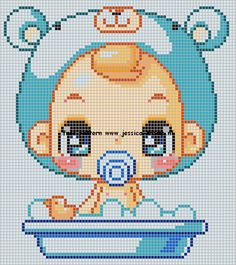 perler pattern cute baby