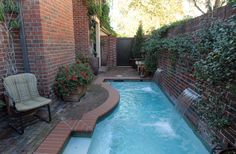 Pool And Brick Patio/courtyard For Limited Space