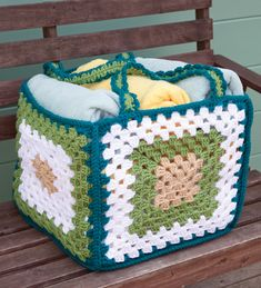 Big Granny Basket | crochet today