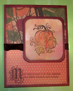 ... Two kit , Harvest Home Acrylix stamp set , Cocoa ribbon , Sunset ink