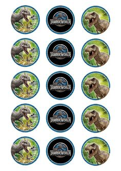 Jurassic World Cupcake » Cupcake Prints » Licensed » Pre-Designed Edible Cake Prints