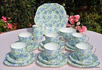 English Fine Bone China Vintage Tea Sets, Antique and Eclectic Tea Service Sets to buy UK.