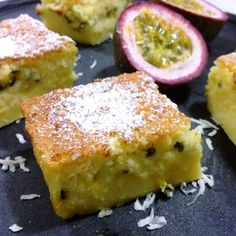 From The Old fashioned Australian Kitchen Pantry. Passionfruit And Coconut Impossible Pie. (The Paddington Foodie) Aussie Food, Australian Food, Australian Desserts, Australian Recipes, Sweet Pie, Sweet Tarts, Just Desserts, Delicious Desserts, Yummy Food
