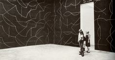 Sol LeWitt, Wall Drawing #260:ALL COMBINATIONS OF ARCS FROM CORNERS AND SIDES; STRAIGHT, NOT STRAIGHT AND BROKEN LINES, 1976