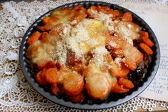 Tortino di carote, funghi secchi e mozzarella