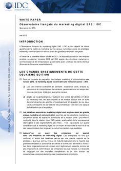 livre-blanc-observatoire-marketing-digital-sas-idc-2012 by Genaro Bardy via Slideshare