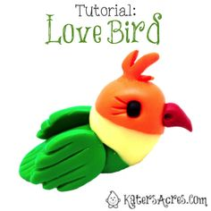 Love Bird Tutorial for Polymer Clay, Fondant, Gum Paste or Other Sculpting Mediums