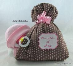 Stork Bundle Baby  Girl diaper cake  Baby by MsCarlasBabyCakes