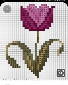 Cross Stitch Flowers, Cross Stitch Patterns, C2c Crochet, Bead Weaving, Embroidery Stitches, Lana, Butterfly, Cross Stitch Embroidery, Flower Chart