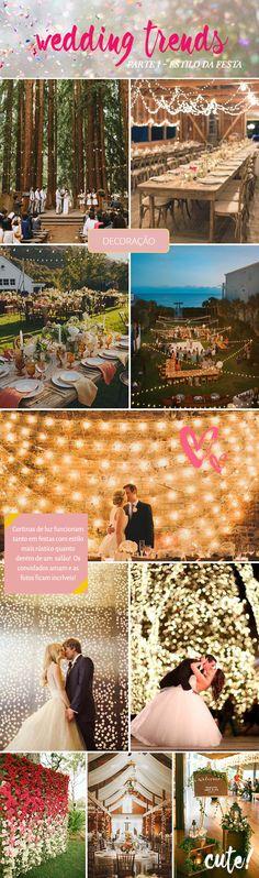 Saiba como decorar o seu casamento no estilo das tendências mais pinadas no Pinterest