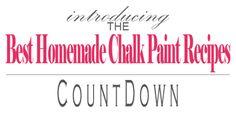 BEST Homemade Chalk Paint Recipes